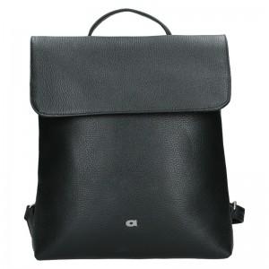 Dámský kožený batoh Daag Mikaela – černá