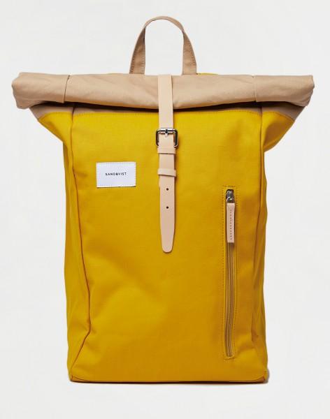 Sandqvist Dante Multi Yellow / Beige with Natural Leather