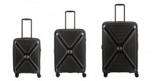 Titan Sada cestovních kufrů Paradoxx 4w S + M + L Black Uni