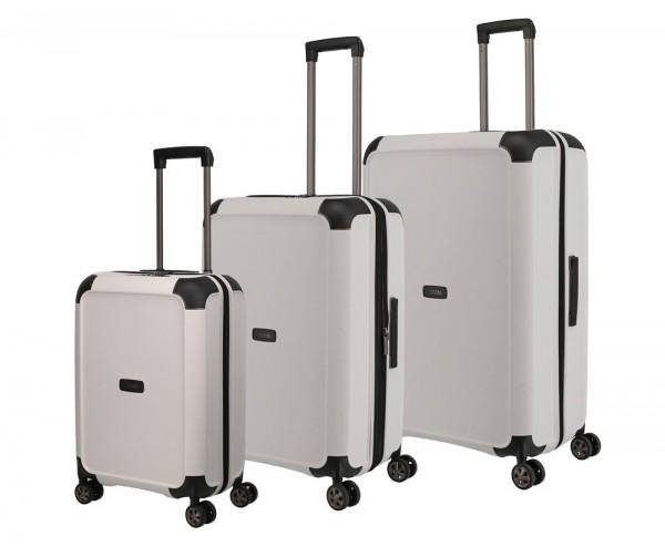 Titan Sada cestovních kufrů Compax 4w S + M + L White