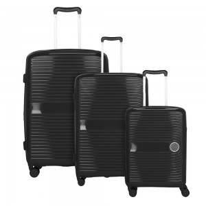 Travelite Sada cestovních kufrů Ceris S + M + L Black