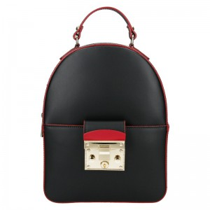 Jedinečný kožený dámský batoh Unidax Erica – černá