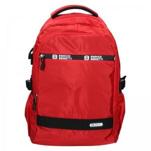 Moderní pánský batoh Enrico Benetti Samme – červená