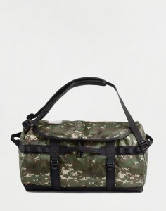 The North Face Base Camp Duffel S Burnt Olive Green Woods Camo Print/ Burnt Olive Green