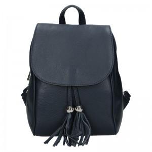 Dámský kožený batoh Vera Pelle Anita – černá