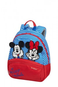 Samsonite Dětský batoh Disney Ultimate 2.0 S Disney Stripes 7 l – Minnie/Mickey Stripes