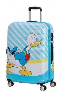 American Tourister Cestovní kufr Wavebreaker Disney Spinner 31C 64 l – Donald Blue Kiss