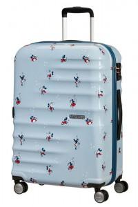 American Tourister Cestovní kufr Wavebreaker Disney Spinner 31C 64 l – Minnie Darling Blue
