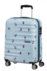 American Tourister Kabinový cestovní kufr Wavebreaker Disney Spinner 31C 36 l – Minnie Darling Blue