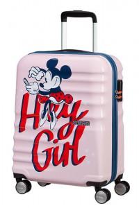 American Tourister Kabinový cestovní kufr Wavebreaker Disney Spinner 31C 36 l – Minnie Darling Pink