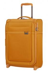 Samsonite Kabinový cestovní kufr Airea Upright 55 cm 41/46 l – medově zlatá