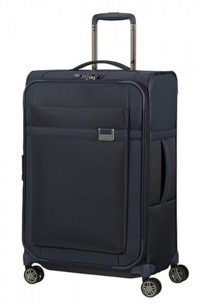 Samsonite Látkový cestovní kufr Airea 67 cm 73,5/81,5 l – tmavě modrá