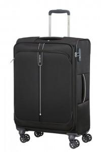 Samsonite Látkový cestovní kufr Popsoda Spinner 66 cm 68/73,5 l – černá