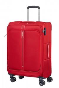Samsonite Látkový cestovní kufr Popsoda Spinner 66 cm 68/73,5 l – červená