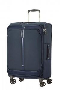 Samsonite Látkový cestovní kufr Popsoda Spinner 66 cm 68/73,5 l – tmavě modrá