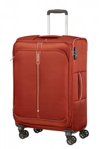 Samsonite Látkový cestovní kufr Popsoda Spinner 66 cm 68/73,5 l – tmavě oranžová