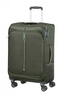Samsonite Látkový cestovní kufr Popsoda Spinner 66 cm 68/73,5 l – tmavě zelená