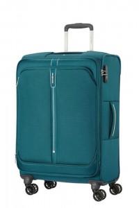 Samsonite Látkový cestovní kufr Popsoda Spinner 66 cm 68/73,5 l – tyrkysová