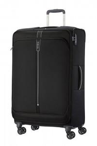 Samsonite Látkový cestovní kufr Popsoda Spinner 78 cm 105/112,5 l – černá