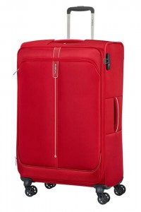 Samsonite Látkový cestovní kufr Popsoda Spinner 78 cm 105/112,5 l – červená