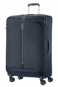 Samsonite Látkový cestovní kufr Popsoda Spinner 78 cm 105/112,5 l – tmavě modrá