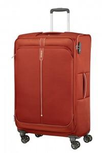 Samsonite Látkový cestovní kufr Popsoda Spinner 78 cm 105/112,5 l – tmavě oranžová