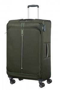 Samsonite Látkový cestovní kufr Popsoda Spinner 78 cm 105/112,5 l – tmavě zelená