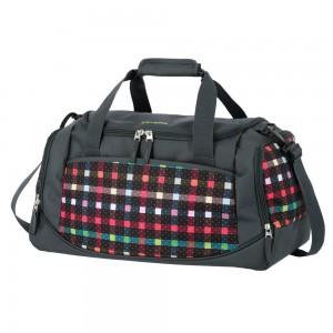 Travelite Cestovní taška Argon Duffle Checked Pattern 35 l