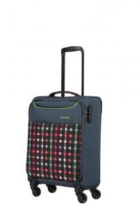 Travelite Kabinový cestovní kufr Argon S Checked Pattern 30 l