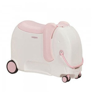 Samsonite Dětský kufr Dream Rider Deluxe Ride-On Spinner Elephant 25 l – světle růžová