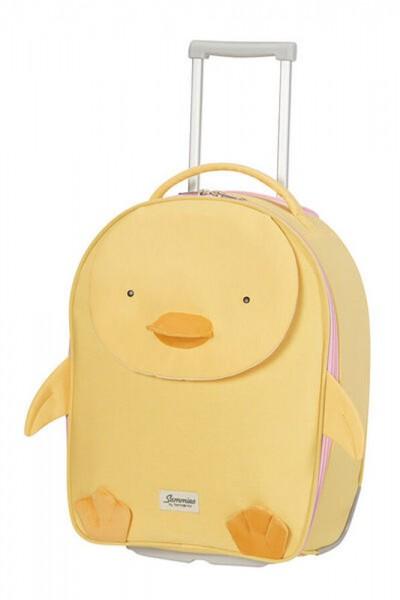 Samsonite Dětský cestovní kufr Happy Sammies Eco Upright Duck Dodie 23 l – žlutá