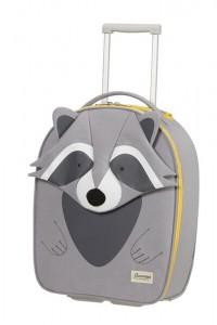 Samsonite Dětský cestovní kufr Happy Sammies Eco Upright Raccoon Remy 23 l – šedá