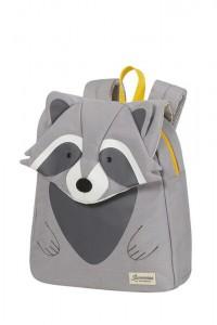 Samsonite Dětský batoh Happy Sammies Eco S Raccoon Remy 7,5 l – šedá