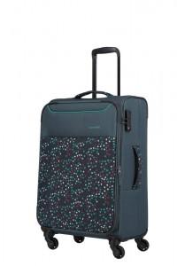 Travelite Látkový cestovní kufr Argon M Dots 57/67 l