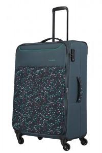 Travelite Látkový cestovní kufr Argon L Dots 92/99 l