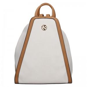 Dámský batoh Marina Galanti Darja – bílo-hnědá