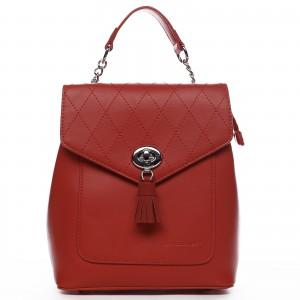 Dámský módní batůžek David Jones Zoe – červená