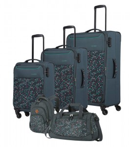 Travelite Sada cestovních zavazadel Argon S + M + L + Batoh + cestovní taška Duffle Dots