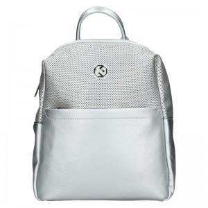 Dámský batoh Marina Galanti Quinta – stříbrná