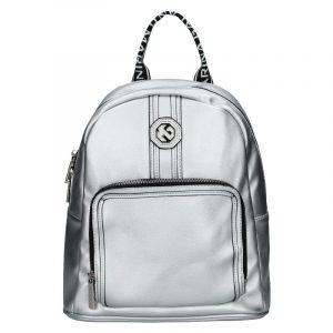 Dámský batoh Marina Galanti Gnela – stříbrná