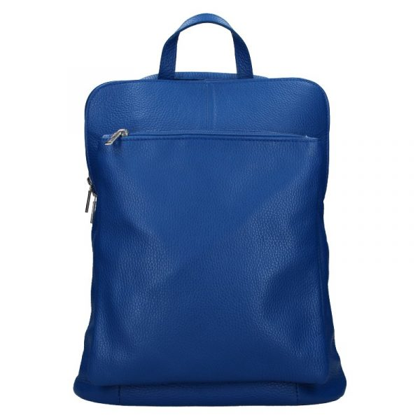 Kožený dámský batoh Unidax Marion – modrá