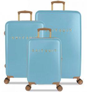 Sada cestovních kufrů SUITSUIT® TR-7105/3 – Fab Seventies Reef Water Blue