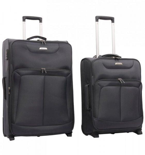 Sada cestovních kufrů AEROLITE T-9985/2 – šedá