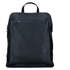 Kožený dámský batoh Unidax Marion – tmavě modrá