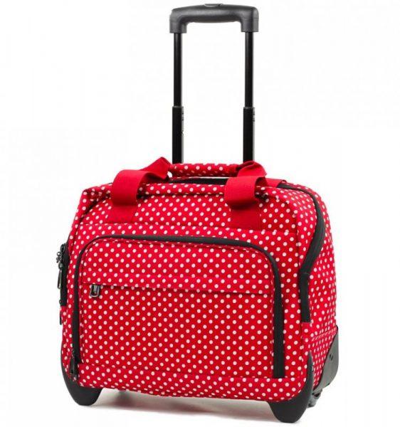 Kufr příruční na notebook MEMBER'S CM-0034 – červená/bílá
