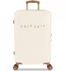 Cestovní kufr SUITSUIT® TR-7104/3-M – Fab Seventies Antique White
