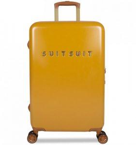 Cestovní kufr SUITSUIT® TR-7107/3-M – Fab Seventies Lemon Curry