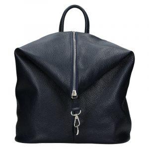 Kožený dámský batoh Unidax Arabel – tmavě modrá