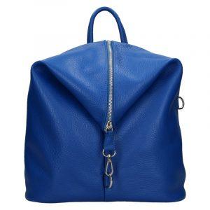 Kožený dámský batoh Unidax Arabel – modrá