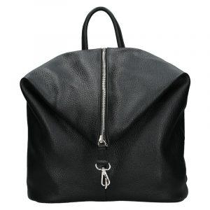 Kožený dámský batoh Unidax Arabel – černá